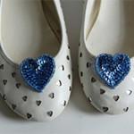 My DIY Heart Shoe Clips
