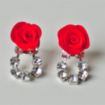 Tutorial: Rose and Rhinestone Earrings and Hairpins