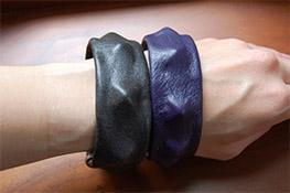 DIY Leather Studded Bangle Bracelet