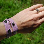 DIY Leather Studded Wristband
