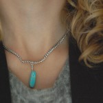 DIY Turquoise Spike Necklace