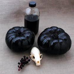 Halloween DIY: Black Glitter Pumpkins