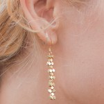 DIY Brass Bead Earrings