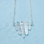 DIY Crystal Point Necklace Tutorial