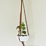 DIY Braided Leather Hanging Plant Holder