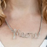 DIY Custom Wire Word Necklace