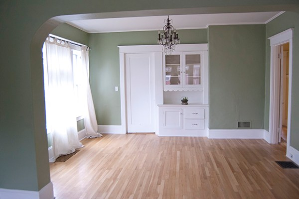 Living Room & Dining Room Before