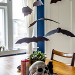 DIY Halloween Bat Flock