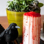 DIY Bloody Halloween Candle