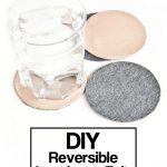 DIY Reversible Leather and Felt Coasters