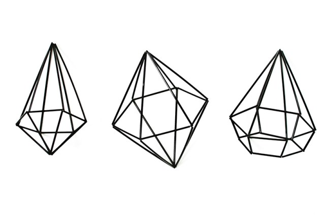 How how to make a DIY himmeli geometric gem