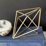 DIY Geometric Himmeli Diamonds