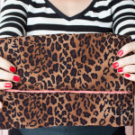 Sew a Leopard Fold-Over Clutch