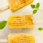 Cantaloupe Chili Mint Popsicles