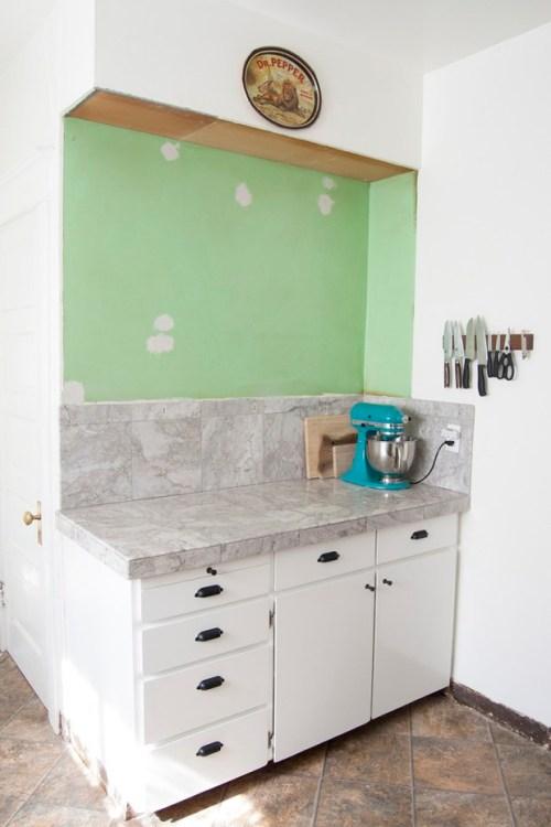 kitchen makeover progress