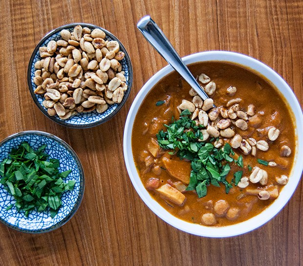 This vegan African peanut soup is a delicious, hearty soup that's perfect for cold weather