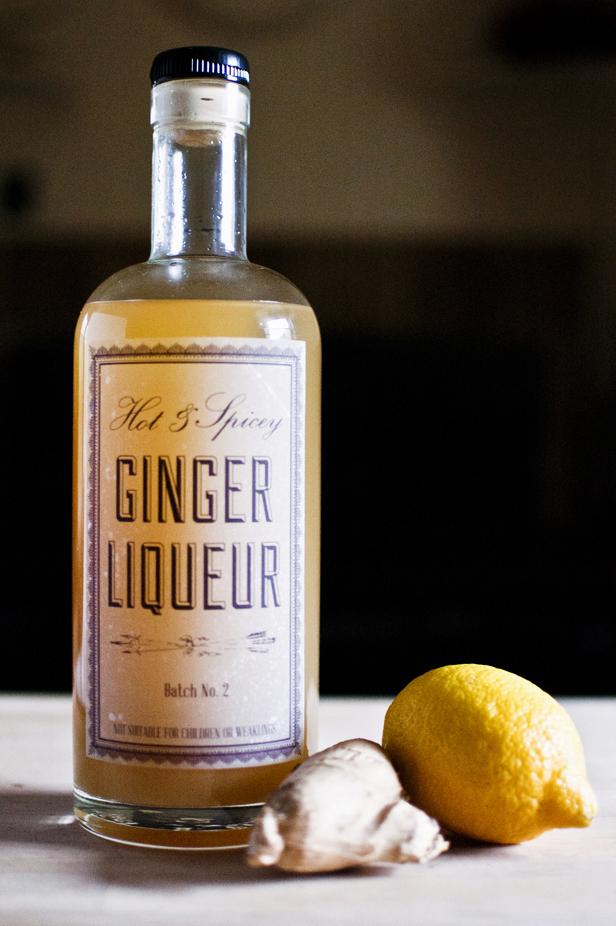 DIY ginger liqueur recipe