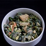 Kale, Brussels Sprouts, and Tofu Salad