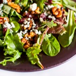Spiced Maple Walnuts, Cranberries, & Blue Cheese Salad