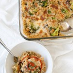 cheesy broccoli kale casserole