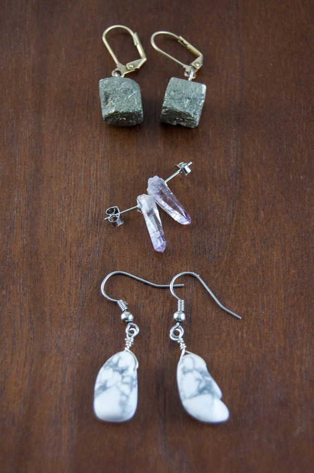 Easy DIY crystal earrings