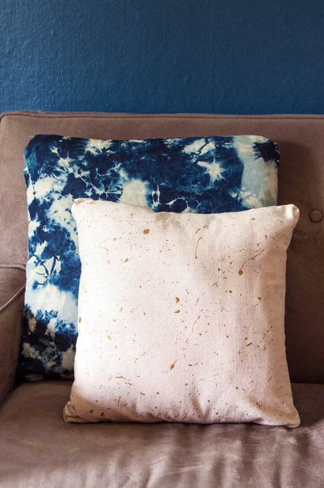 DIY splatter paint fabric