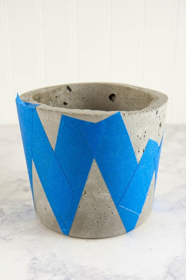 Concrete and Gold DIY Plant Pots