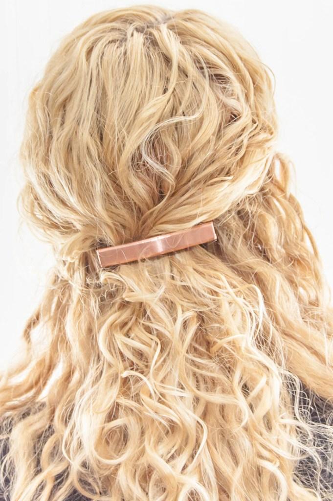 Make an easy DIY copper hair clip/barrette