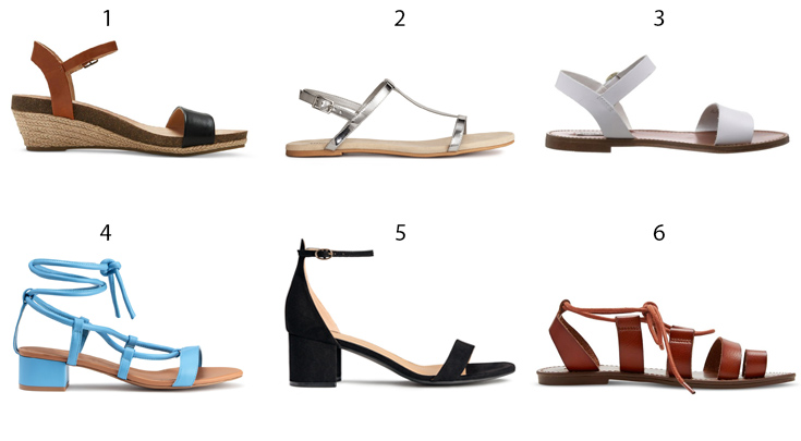 summer sandals that are perfect for DIY