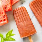 Watermelon Mint Popsicles and Sake Slushies
