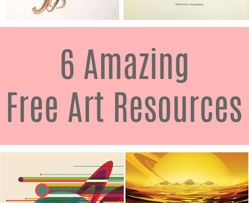 Free Art Resources: Sites with amazing free art of all styles that you can print yourself.