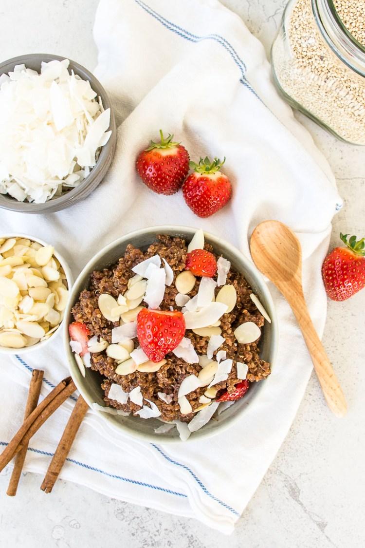 Chocolate chai breakfast quinoa
