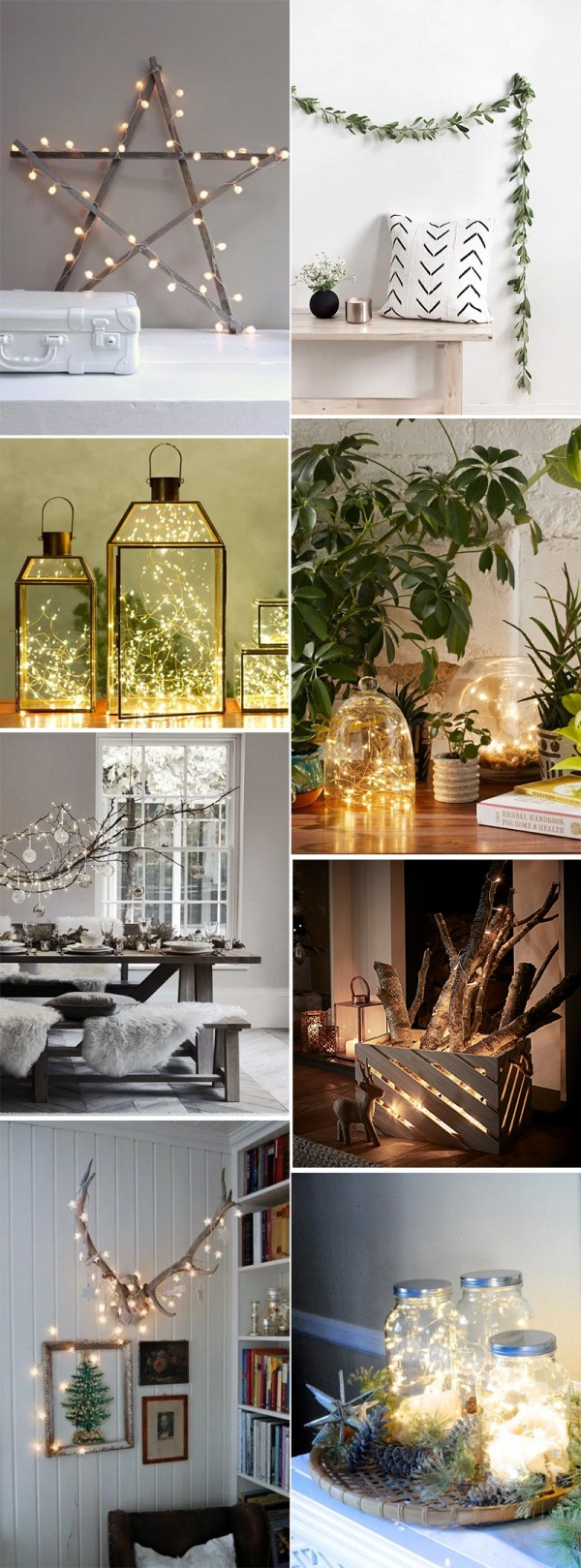 Simple Holiday Decor with White Lights