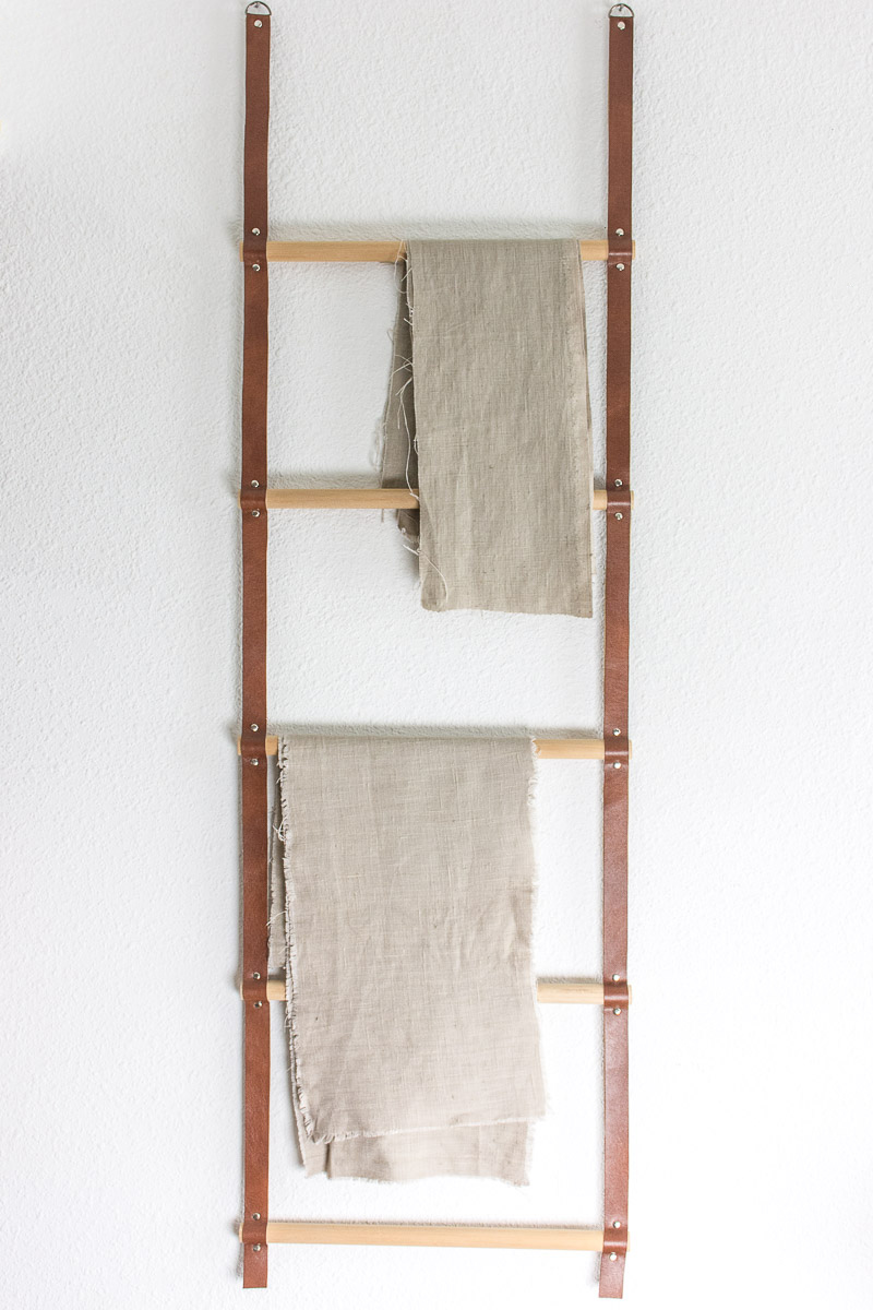 Follow These Instructions To Make This Versatile Hanging Wood And Leather Storage  Ladder. Use It