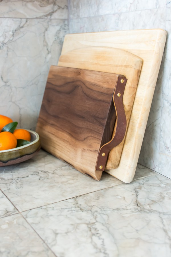 How to Add a Leather Handle to a Cutting Board