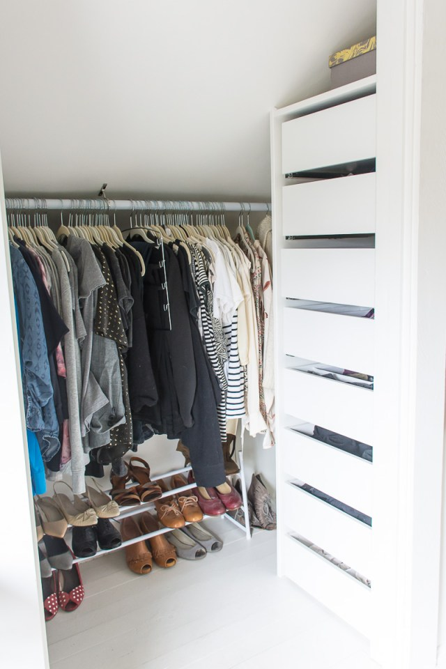 Attic bedroom closet makeover