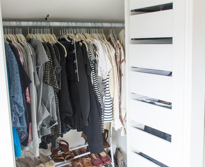 Attic bedroom closet makeover