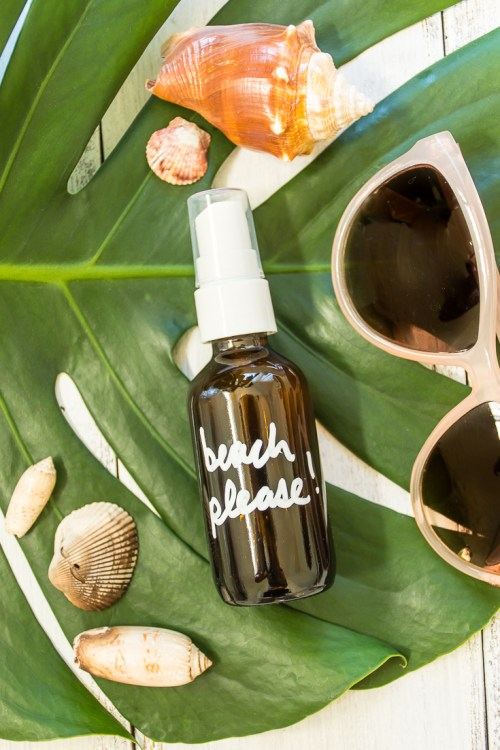 Not ready to give up beachy hair for the season? Make this DIY sea salt hair spray