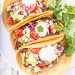 Mushroom Mole Black Bean Tacos (Vegan)