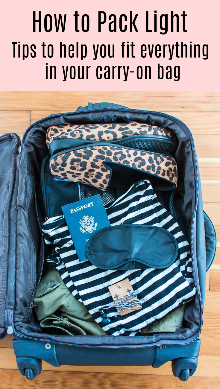 Tips On How To Pack Light With Just Carry On Bags. Your Air Travel