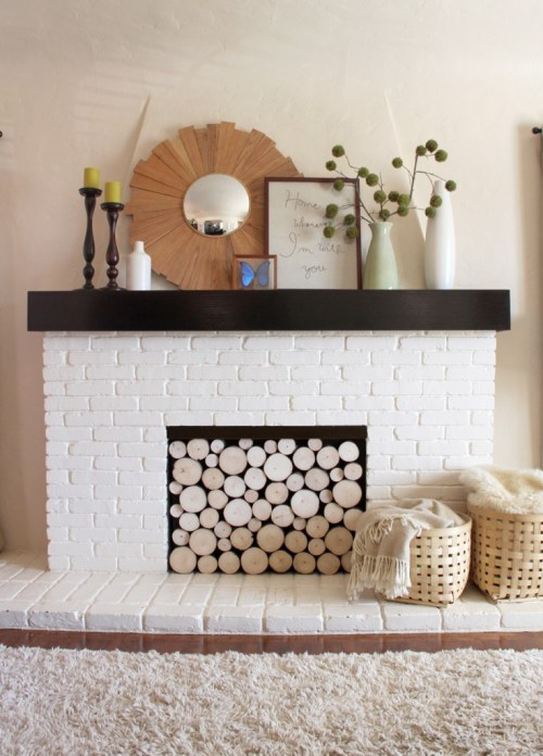 log fireplace screen