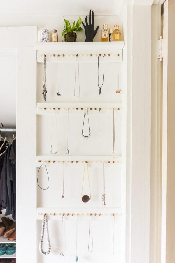 How to Make an Easy DIY Jewelry Storage Rack