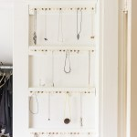 DIY jewelry storage rack