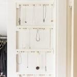 DIY jewelry storage rack