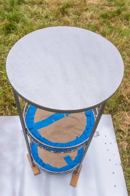 Side table before spray paint #DIY
