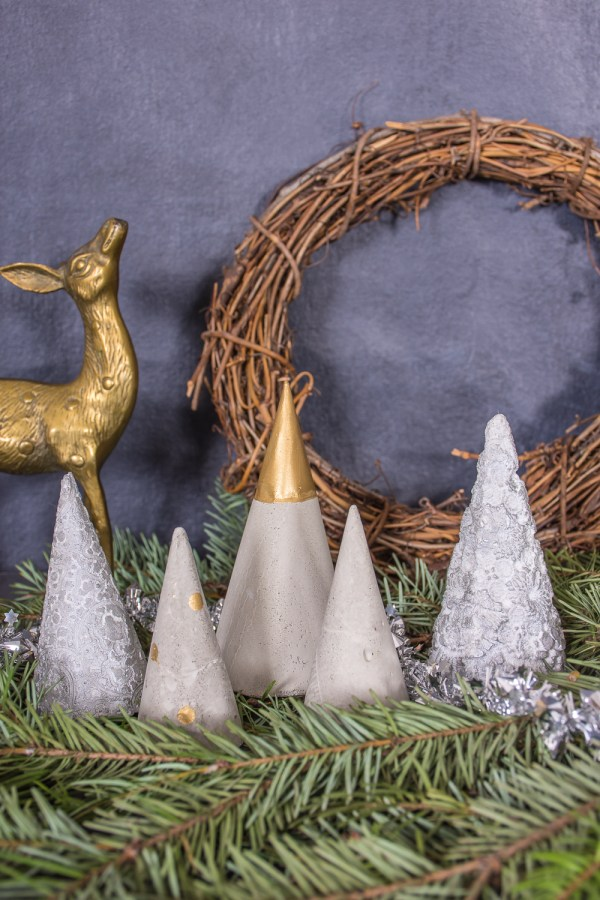 How to Make Concrete Mini Christmas Trees