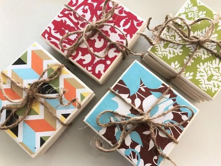 diy repurposed ceramic tile coasters