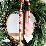 Diy Wood Bead Valentine Garland Diy Inspired