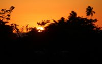 picture of sunset in aguada, puerto rico