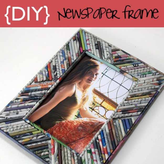 Newspaper frame